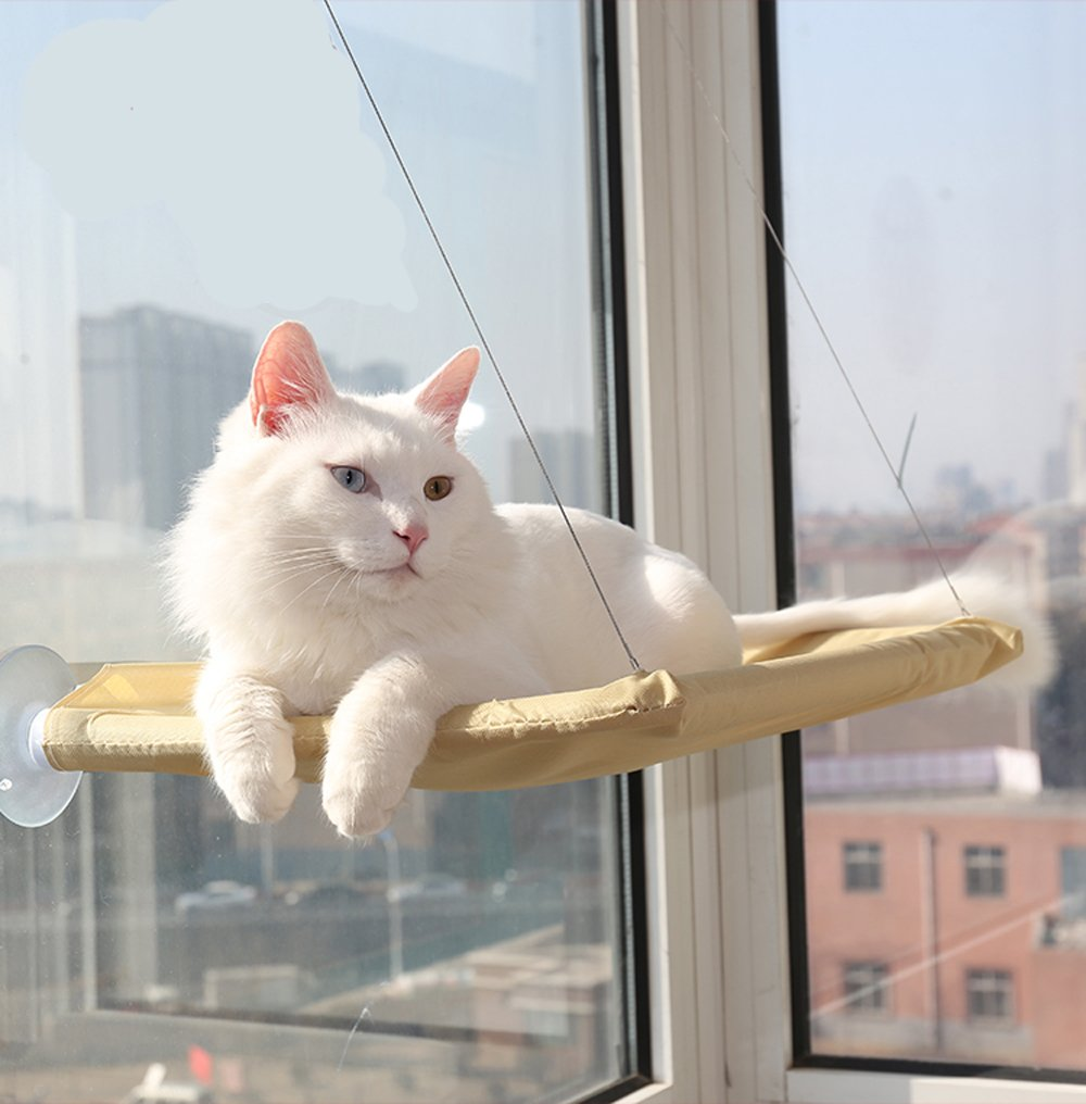 Pet Window Mounted Bed Cat Hammock Mounted Bed Basking Perch Cushion Beds Hanging Shelf Seat For Multiple Cats Household