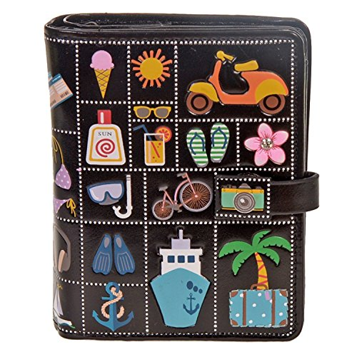 (Shag Wear Women's Small Zipper Wallet Summer Icons)