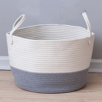 Amazon Com Toys Storage Basket Extra Large Woven Rope Baskets With