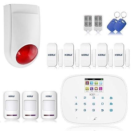 KERUI G19 alarma inalámbrico por infrarrojos Detector de movimiento sirena seguridad casa GSM lector RFID +