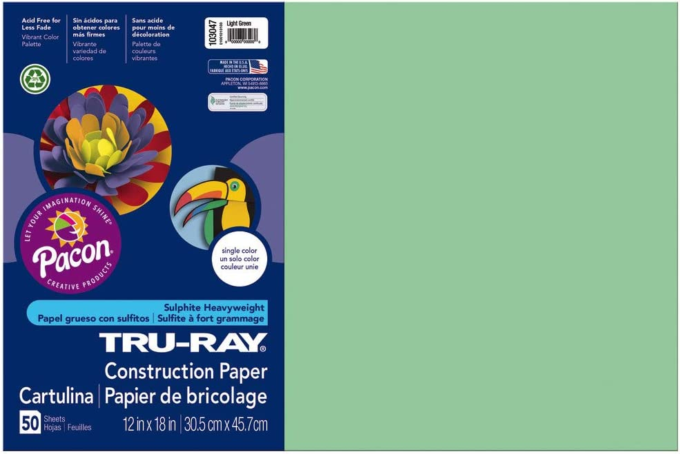12in Riverside Paper Tru-Ray Violet x 18in Construction Paper R