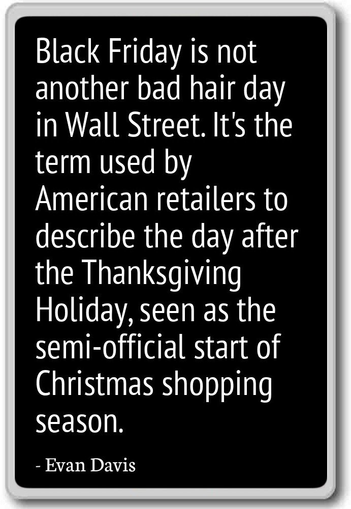 Amazon.com: Black Friday is not another bad hair day in Wall ...