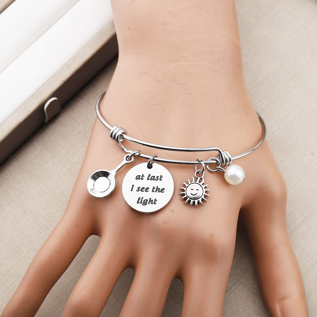 CHOORO Tangled Quote Bracelet at Last I See The Light Inspirational Inspired Jewelry Gift