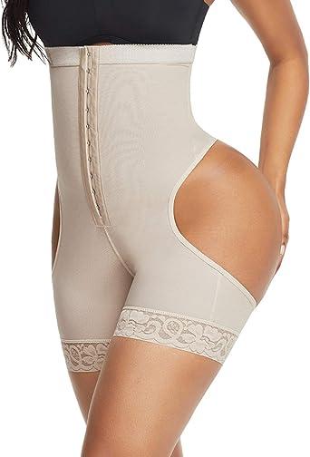 Womens Lace Thigh Slimmer Tummy Control Shorts Body Shaper Butt Lifter Shapewear