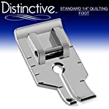 """Distinctive Standard 1-4"""" Quilting/Sewing Machine Presser Foot - Fits All Low Shank Snap-On Singer*, Brother, Babylock, Euro-Pro, Janome, Kenmore, White, Juki, New Home, Simplicity, Elna and More!"""