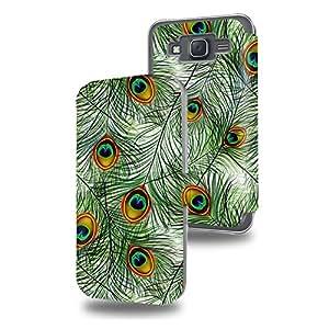 Plumes pattern with peacock feathers Collection Pattern Funda de Cuero para Samsung Galaxy J5 Flip Case Cover (Estuche) PU Cuero - Accesorios Case Industry Protector