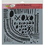 CRAFTERS WORKSHOP XOXO Template, 12-Inch by 12-Inch