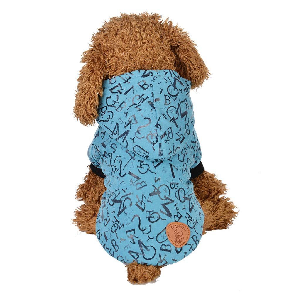 afb2f80745f Amazon.com: Elogoog Pet Clothes, Classic Hoodie Shirt Letters Dogs ...