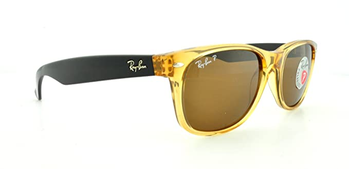 ed2208ecea54 Image Unavailable. Image not available for. Colour  New Ray Ban Wayfarer  RB2132 945 57 Honey Brown Classic 55mm Polarized Sunglasses