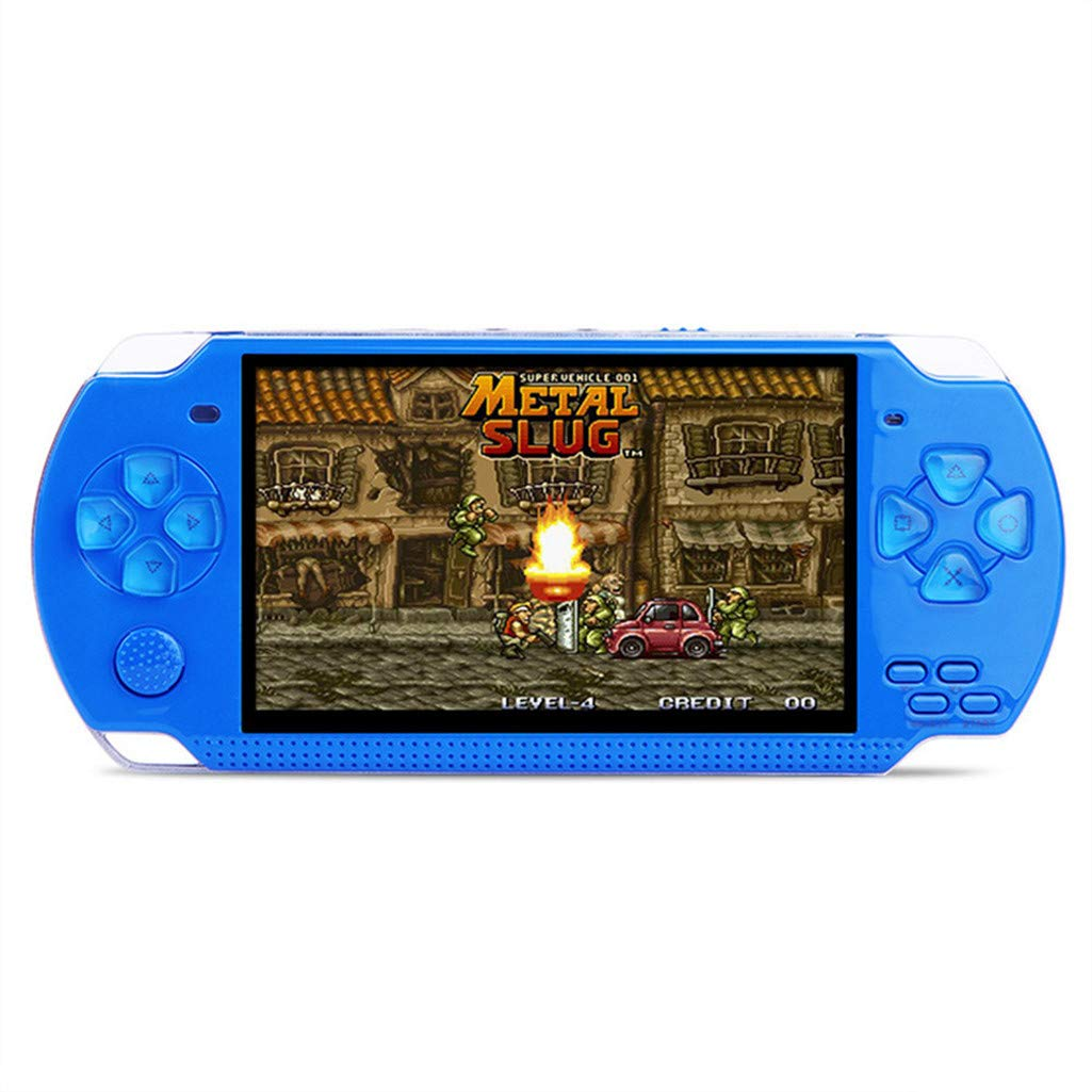 CMrtew ❤️ Classic Retro Handheld Game Console Video Game Player 4.3 inch Screen 8GB Portable Games Player Built-in 500 Games Support TV Out Put with MP3 Game Console (Blue, 17x7.5 x2 cm) by CMrtew_Toys (Image #2)