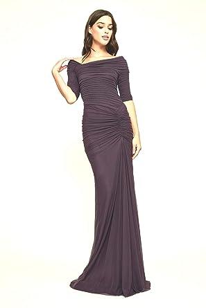 362e579a1de8 Tadashi Shoji Draped Mesh Gown- Black- Size Xs at Amazon Women's Clothing  store: