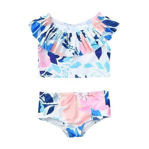 6451c1e25 Amazon.com: ❤ Mealeaf ❤ Children's Kids Girls Bikini Beach ...