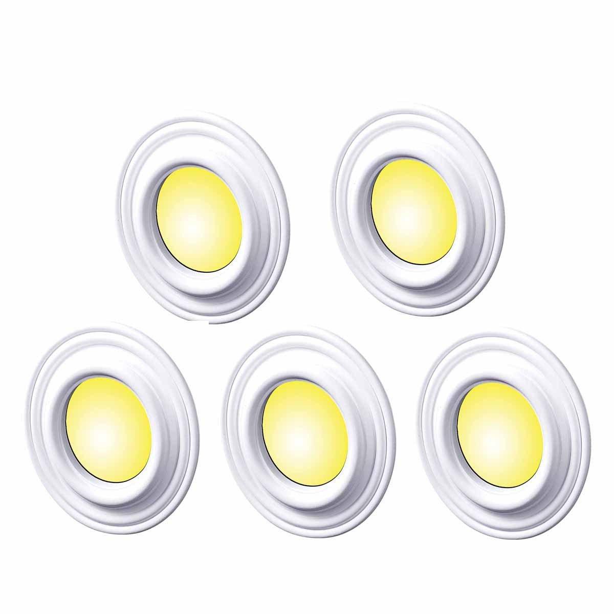 5 Spot Light Trim Medallions White Urethane 4'' ID Set Of 5