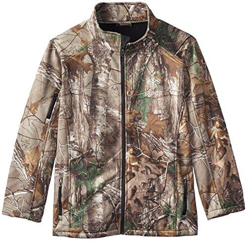 Dunbrooke Apparel NFL New Orleans Saints Huntsman Softshell Jacket, Real Tree Camouflage, Large (Pullover Jacket Saints Orleans New)