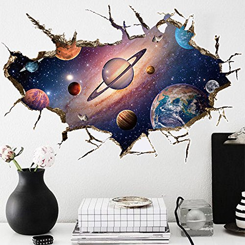 Wall Decal 3d Mural a Corner Removable Wall Stickers-60 x 90cm - 1