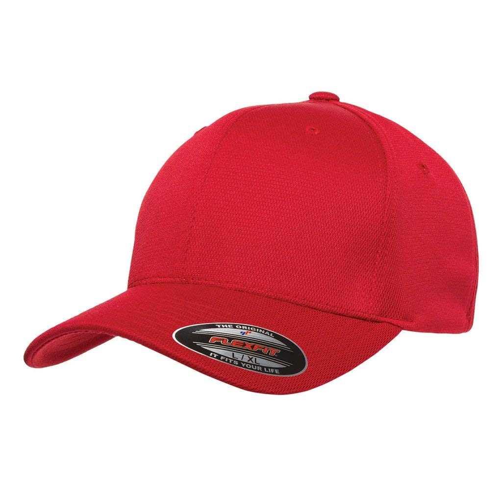 Yupoong 6597 Flexfit Cool & Dry Sport Jersey Cap Red Small/Medium by Yupoong