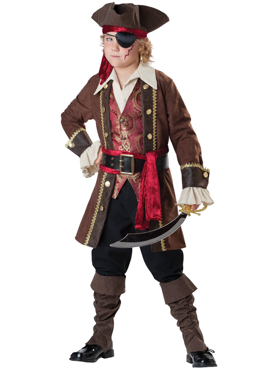 Fun World InCharacter Costumes Captain Skullduggery Costume, One Color, Size 14