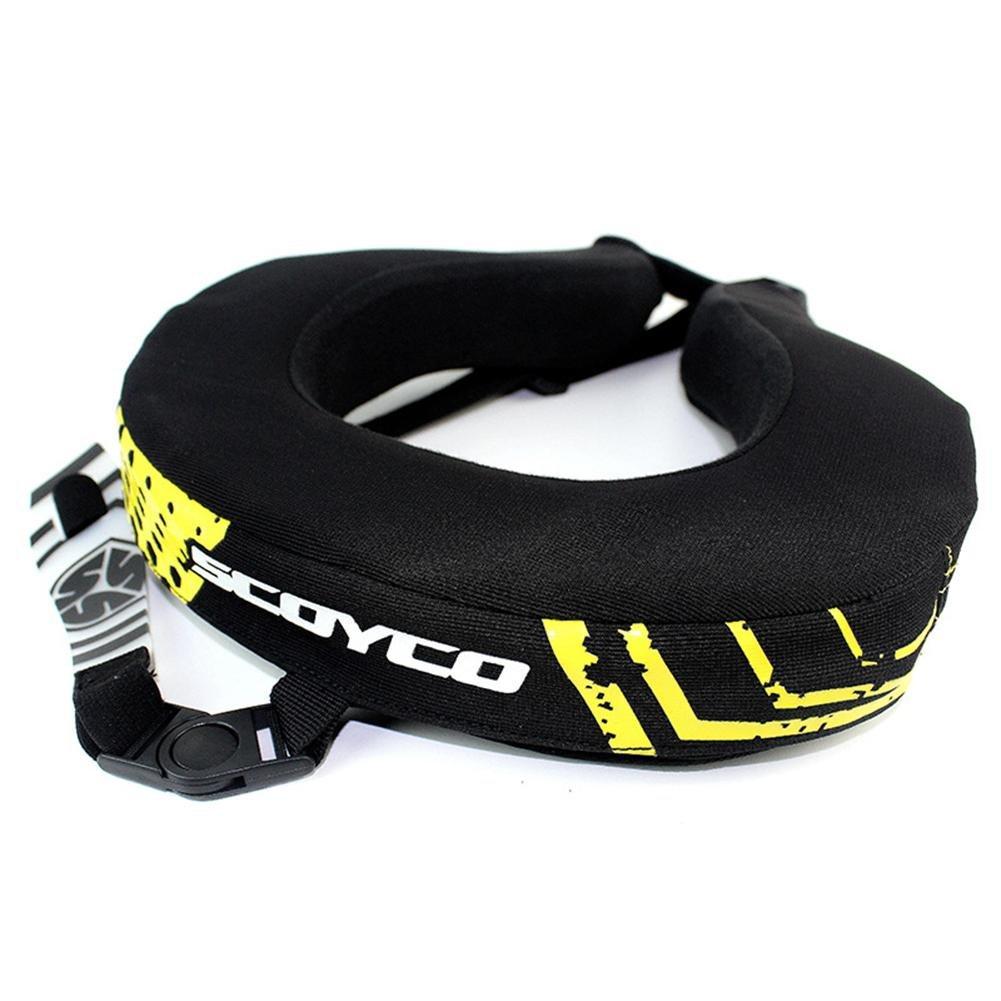 Beatie protection de Neck Support pour motocross Adulte Prot/ège-nuque Antichute Anti-Fatigue Noir
