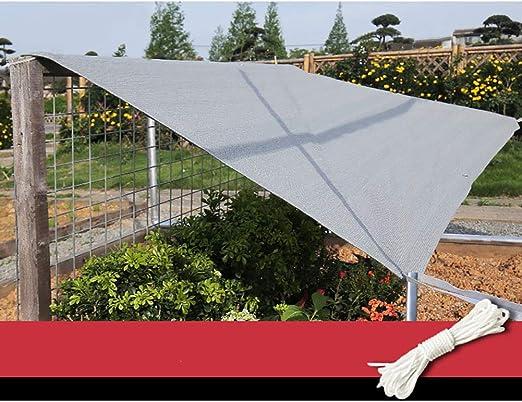 GuoWei Gris Velas De Sombra 90% Solar Obstruido Malla Red Cubrir Respirable con Ojal para Jardín Al Aire Libre Personalizable (Size : 1x1m): Amazon.es: Jardín