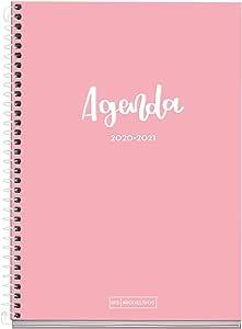 MIQUELRIUS - Agenda Escolar Basic Curso Lectivo 2020-2021, Español, Semana vista, Tamaño 155x213 mm, Papel 70 g, Cubierta cartón extraduro, Color Rosa: Amazon.es: Oficina y papelería