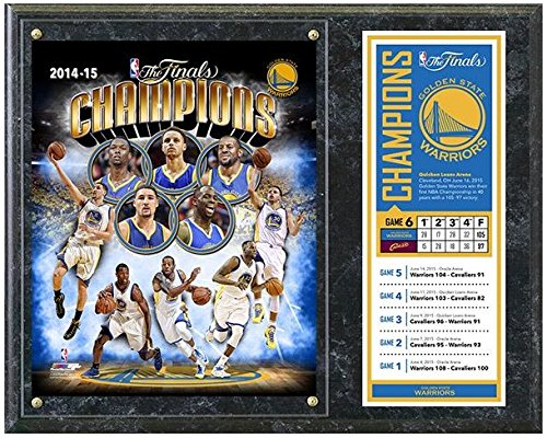 Golden State Warriors 2015 NBA Finals ChampionsフォトPlaque (サイズ: 12