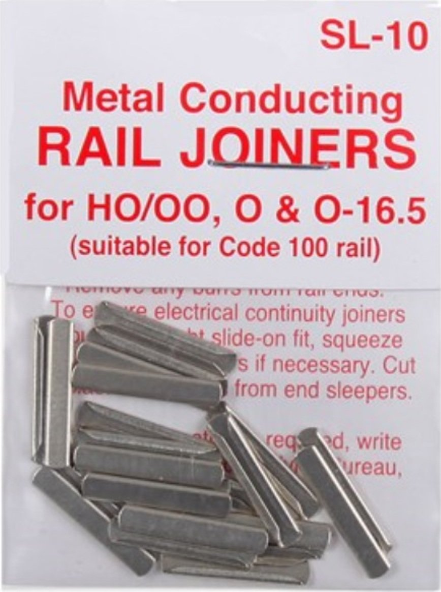 Peco SL-10 HO Code 100 Conductive Rail Joiner 24 Pack