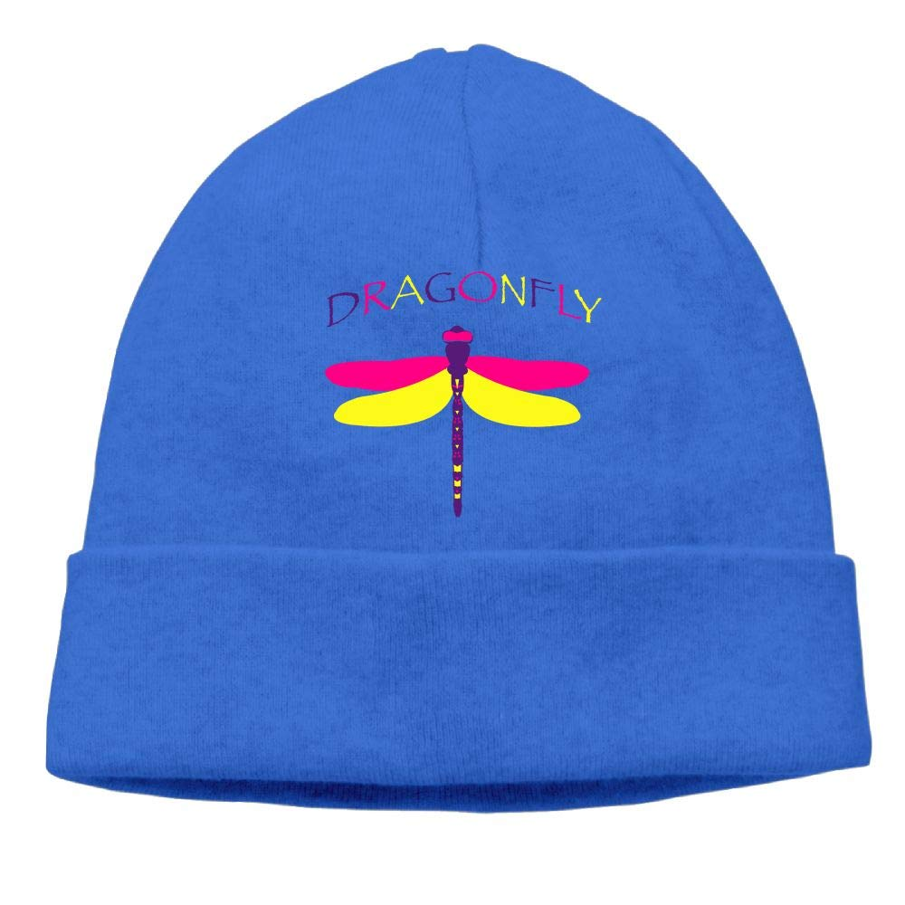 Poii Qon Beanies Hats Colorful Dragonfly Knit Caps for Womens Mens
