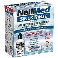 NeilMed Sinus Rinse - A Complete Sinus Nasal Rinse Kit, 50 count (Pack of 2)