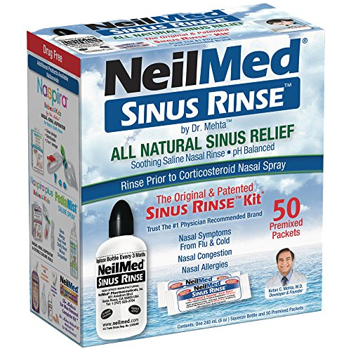 Neilmed Sinus Rinse Kit 50 count  (Pack of 2) (Ready Sinuflo Neilmed Rinse)