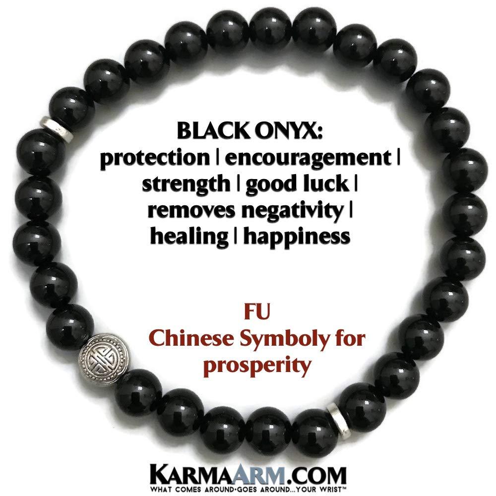 STRENGTH: Black Onyx Mens Bracelets Cross Beaded Bracelets Yoga Reiki Healing Chakra BoHo Spiritual Meditation Jewelry Lava Stone Hematite