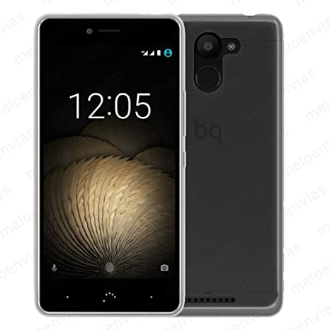 Funda carcasa para BQ AQUARIS U PLUS Gel TPU LISA Color TRANSPARENTE