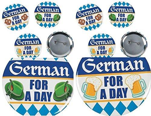 Fun Express German For A Day Oktoberfest Party Buttons-2 DZ