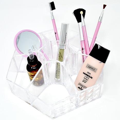 Bakaji - Caja organizadora de maquillaje hexagonal de plástico ...