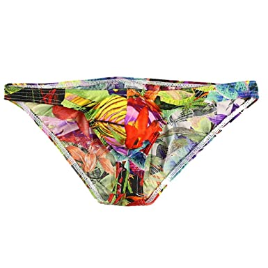 d9dc89531ae7 Maheegu Men's Breathable Low Rise Cotton Bikini Triangle Underwear Floral  Print Pouch Panty Briefs: Amazon.co.uk: Clothing