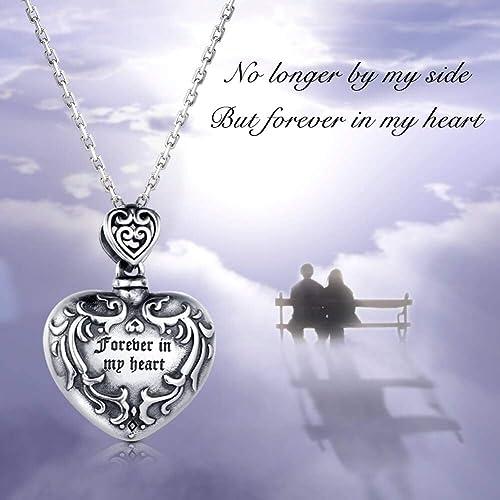 Broken Heart Cremation Pendant Ashes Pendant Red CM011 Pet Loss Close2Me\u00a9 Sterling Silver