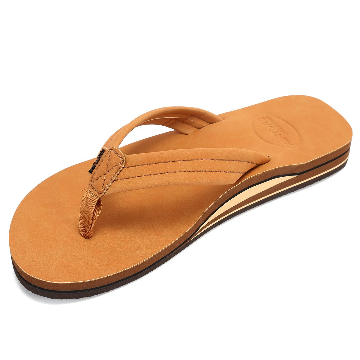 Fanture Mens Flip Flops Arch Support Sandals Indoor and Outdoor Slipper