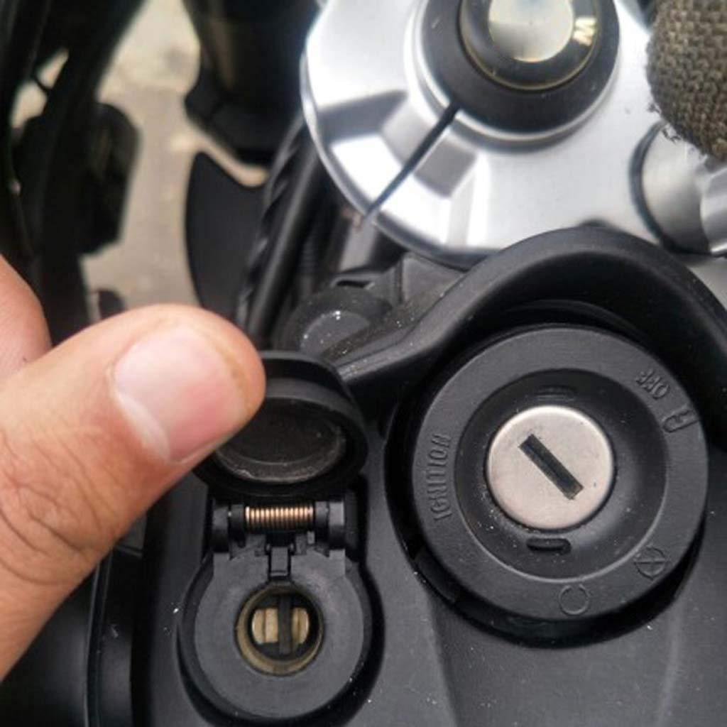 Mmnas Wasserdichter 12 V Dual USB Ladeger/ät Netzteil LED Voltmeter DIN Stecker Buchse f/ür Hella Motorrad