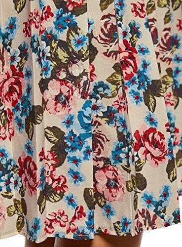 Longue oodji Mi Femme Plisse Jupe Multicolore 1270f Collection PCCqIO