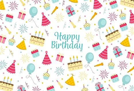 amazon com aofoto 8x6ft happy birthday background sweet cake gift