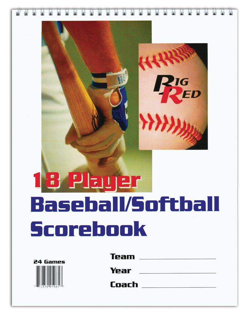Big Red 18 Player Baseball//Softball Scorebook