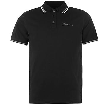 Pierre Cardin, Polo camisa para hombre color negro en la parte ...