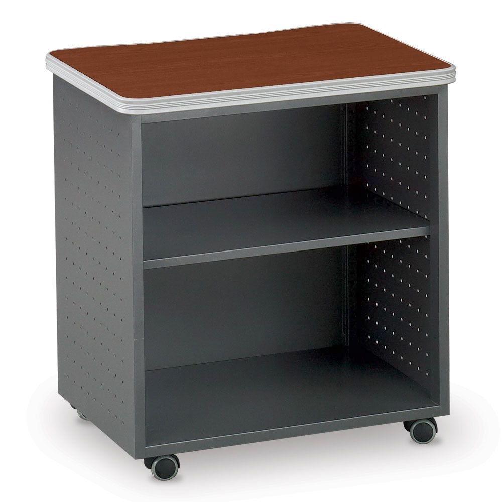 Multi Purpose Table Mobile Utility Table Dimensions: 28''W x 20''D x 30''H Weight: 52 lbs Cherry Top/Charcoal Gray Base