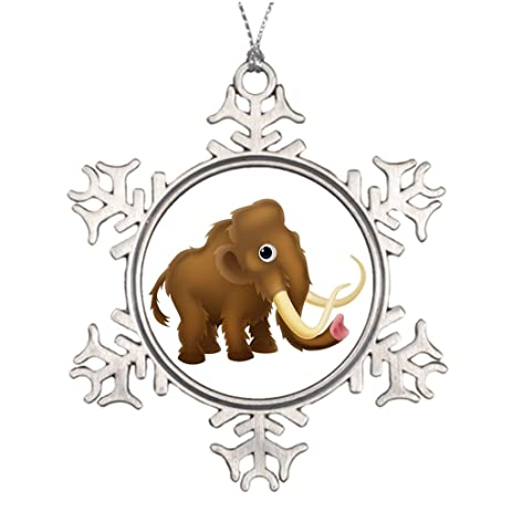 bang angel personalised christmas tree decoration wooly mammoth cartoon outdoor decorations - Christmas Elephant Outdoor Decoration