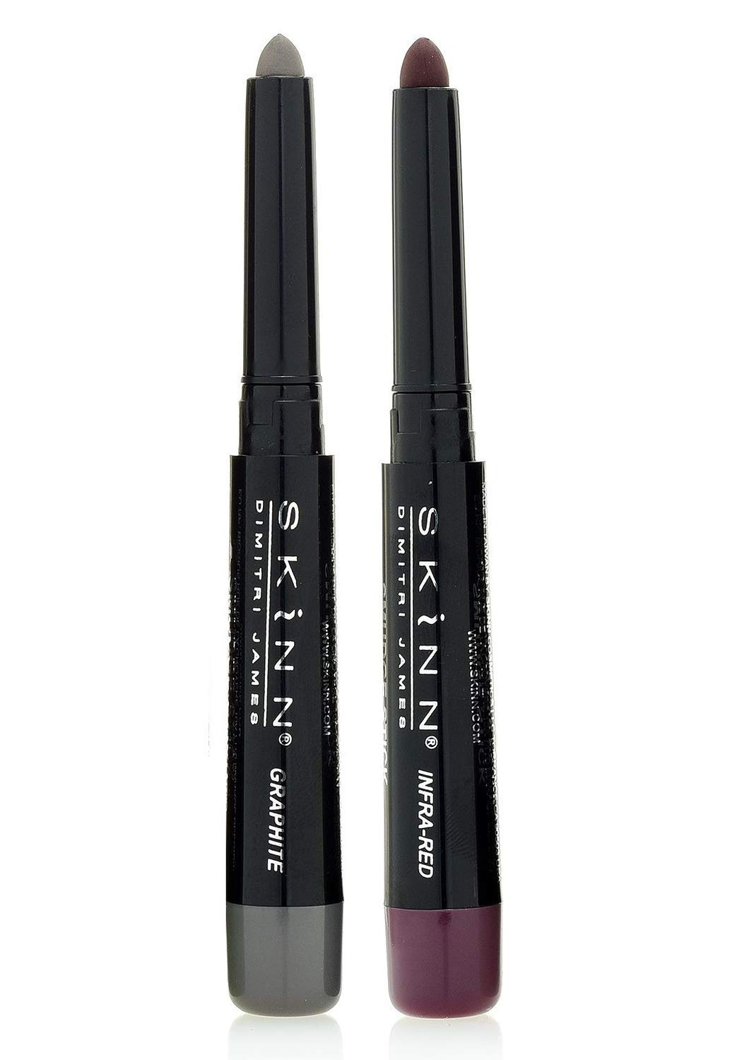Skinn Cosmetics Smudge Stick for Eyes - Set of 2 Eye Pencils - Graphite & Infrared