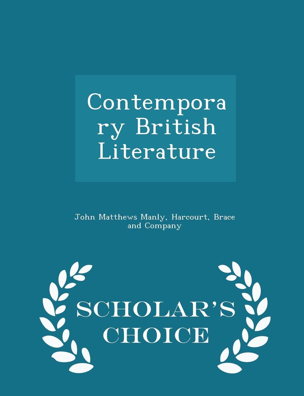 Download Contemporary British Literature - Scholar's Choice Edition pdf epub