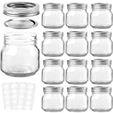 KAMOTA Mason Jars 8 oz With Regular Lids and Bands, Ideal for Jam, Honey, Wedding Favors, Shower Favors, Baby Foods, DIY Magn