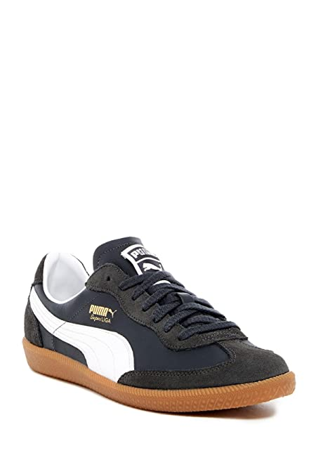 new style 2d342 90bb9 ... PUMA Mens Super Liga Og Retro Low Top Lace Up Fashion, New Navy-White  ...