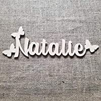 Wood Name Sign - Baby Name Sign - Nursery Name Sign - Above the Crib Sign - Personalized Baby Sign - Custom Nursery Sign - Nursery Letters - Butterfly Style Name Sign