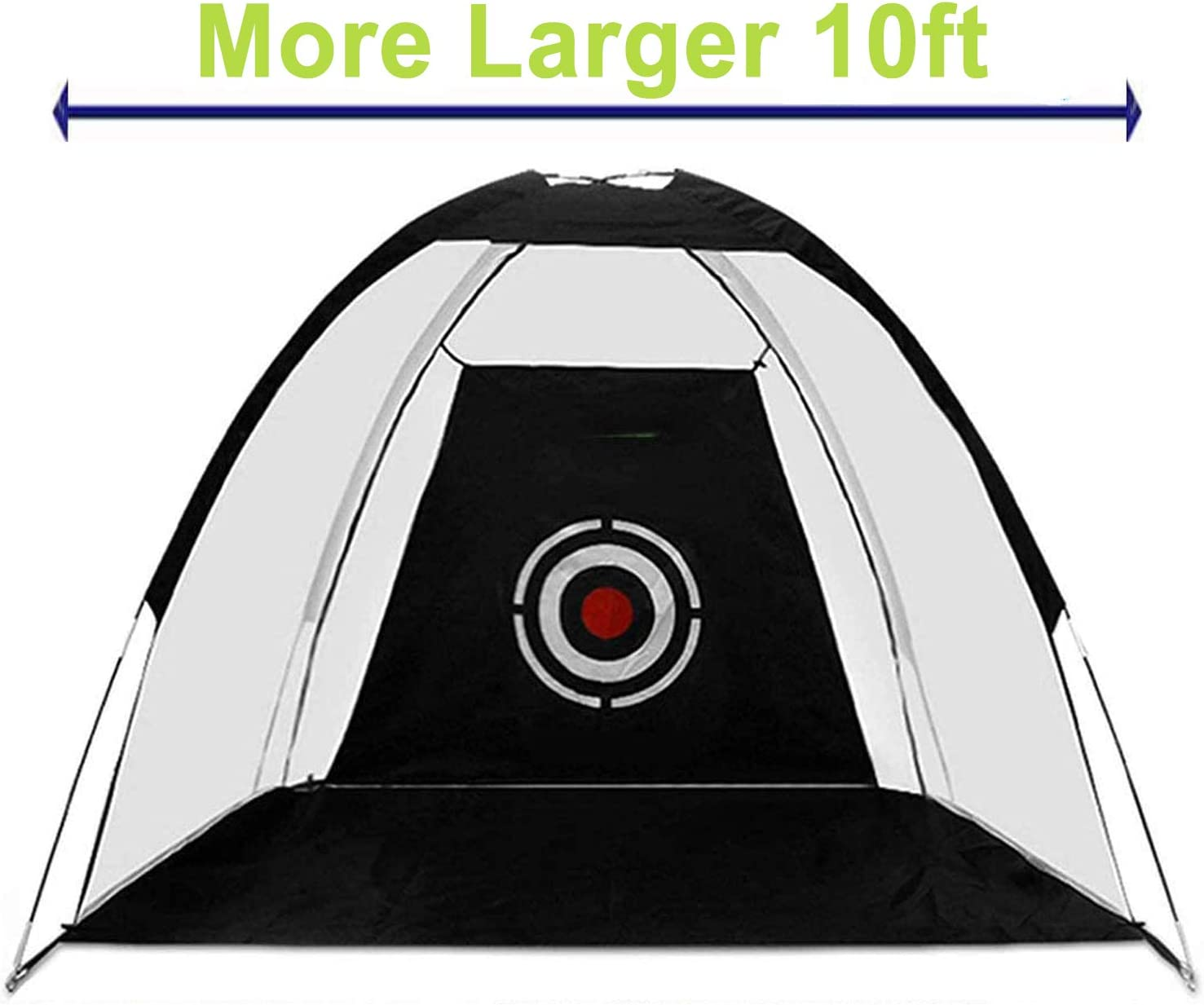 LEDMOO Golf Hitting Net with Target Sheet - 10x7ft Portable Golf Practice Net Driving Range for Backyard