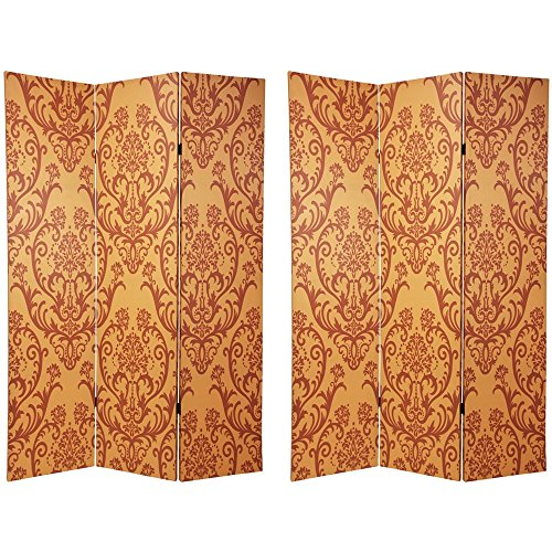 Oriental Furniture 6 ft. Tall Double Sided Damask Room ()
